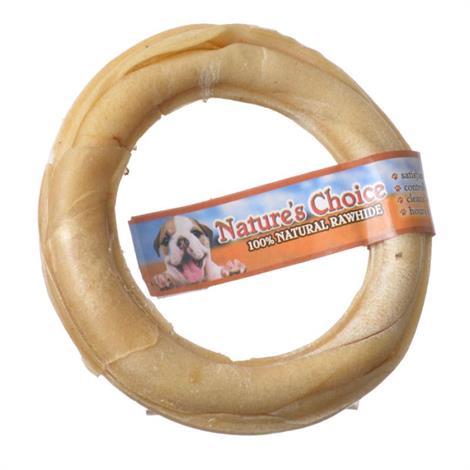 Lovingnatures Choice Pressed Rawhide Donut,Large - (6