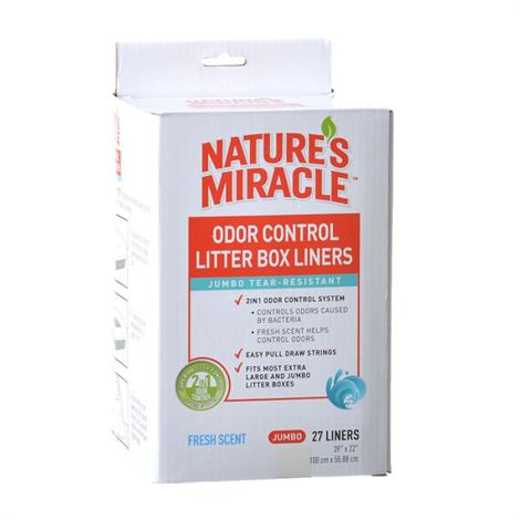 Natures Miracle Odor Control Litter Box Liners,Jumbo (27 Pack),27/Pack,NM-5417
