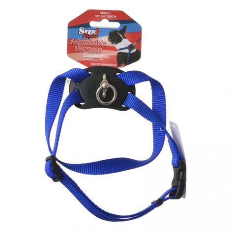 "Coastal Size Right Nylon Adjustable Cat Harness - Blue,Girth Size 12""-18"",Each,7348BL"