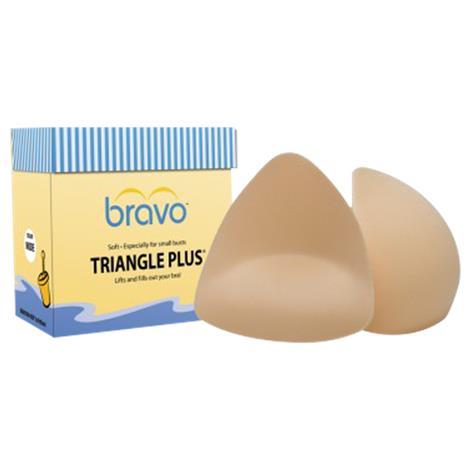 Bravo Triangle Plus Bra Pads Style 9400,Medium/Large (B/C), Nude,Pair,9400 BBP09400