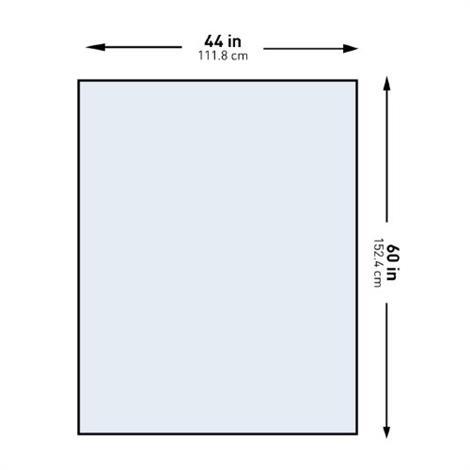 "McKesson Half Drape Sheet,60""W X 44""L,22/Case,16-I80-12401-S"