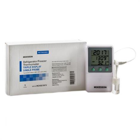 McKesson Refrigerator Single-Probe Thermometer With Triple Display,Digital Display,Each,MCK821RFV