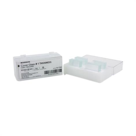 McKesson Microscope Square Cover Glass,Thickness #1,10/Pack,16-7135