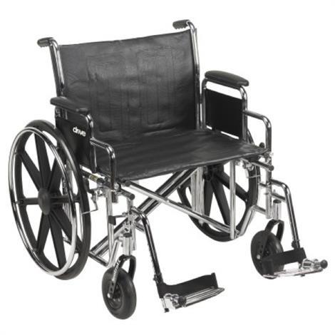"""McKesson Heavy Duty Dual Axle Wheelchair,16""""H x 22""""W,Swing Away Elevated Footrests,Each,146-STD22ECDDA-ELR"""