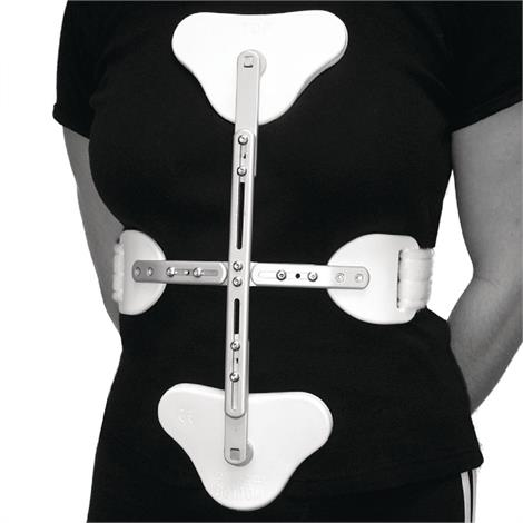 """C.A.S.H. Cruciform Anterior Spinal Hyperextension Orthosis,Large,Hinged Sternal & Pubic Pad,Rib Circumference: 42"""",Each,55988708"""