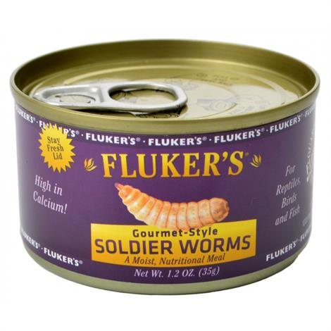 Flukers Gourmet Style Soldier Worms,1.2 oz,Each,78004