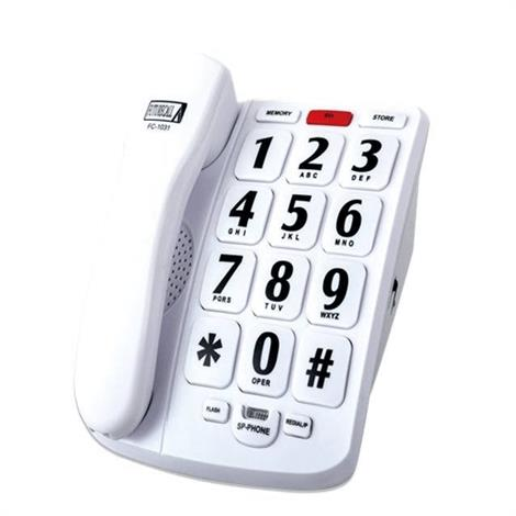 Future Call FC-1031 Amplified Big Button Speakerphone,Amplified Big Button Speakerphone,Each,FC-1031