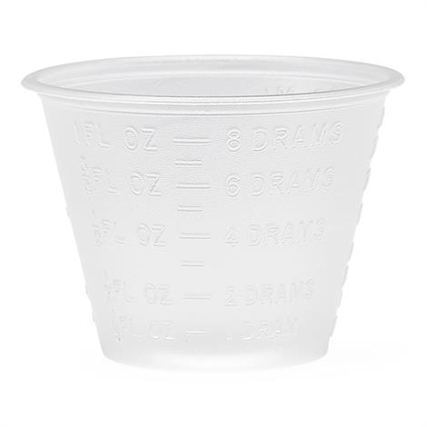 Medline Graduated Plastic Disposable Medicine Cups,Holds 1oz,100/Pack,DYND80000H