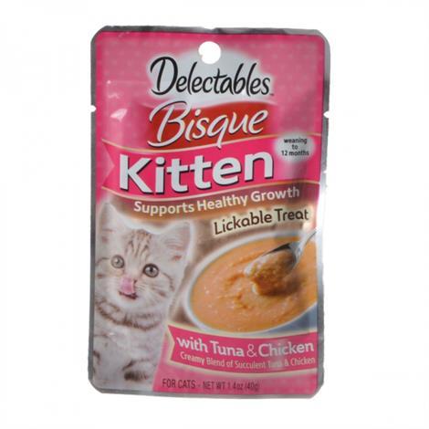 Hartz Delectables Bisque Kitten Treat - Tuna & Chicken,1.4 oz,Each,15635
