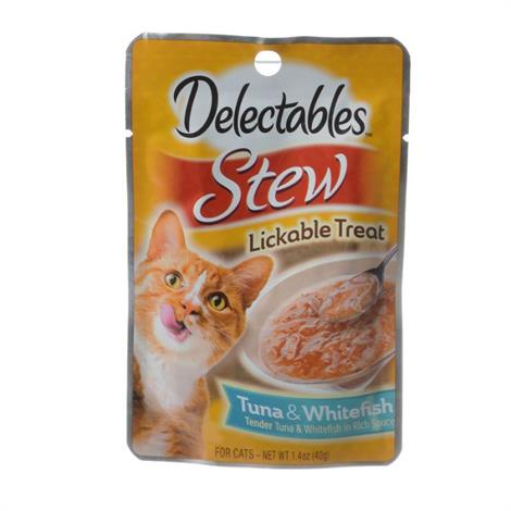 Hartz Delectables Stew Lickable Cat Treats - Tuna & Whitefish,1.4 oz,Each,11054