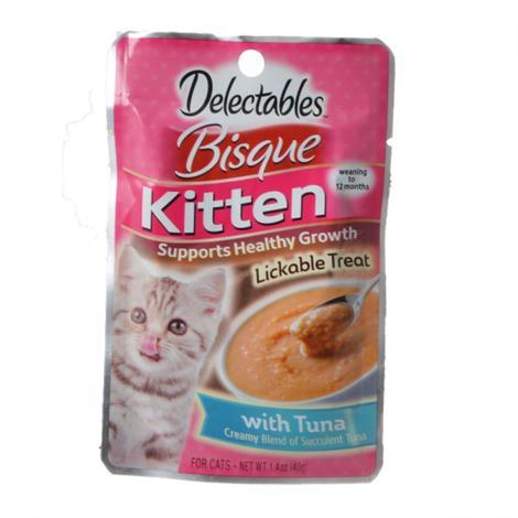 Hartz Delectables Bisque Kitten Treat - Tuna,1.4 oz,Each,15472