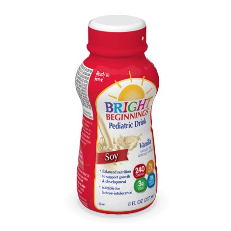Bright Beginnings Soy Pediatric Drink,Vanilla,8oz Can,6/Pack,4Pk/Case,368-0008-004