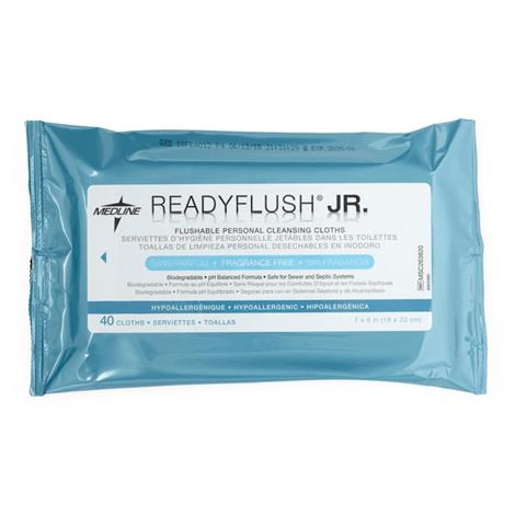 "Medline ReadyFlush Biodegradable Flushable Wipes,12""L x 8""W,Scented,24 cloths,Each,MSC263810H"