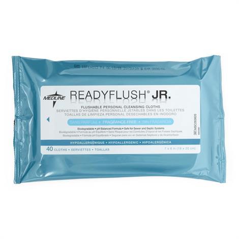 "Medline ReadyFlush Biodegradable Flushable Wipes,12""L x 8""W,Scented,24 cloths,Each,MSC263810H"