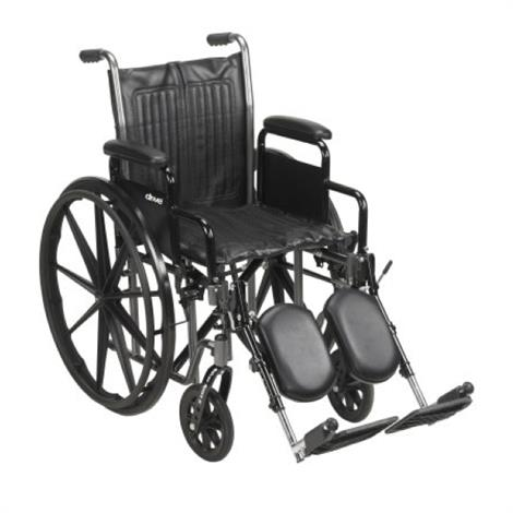 "McKesson Standard Wheelchair With Detachable Padded Desk Arms,16""H x 16""W,Swing Away Elevating Footrests,Each,146-SSP216DDA-ELR"