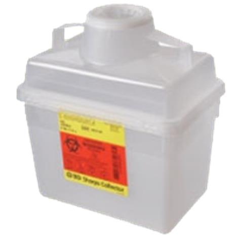 BD Multi Use Nestable Sharps Collector,14quarts,Red,Regular Funnel Clear Top,20/Case,305464