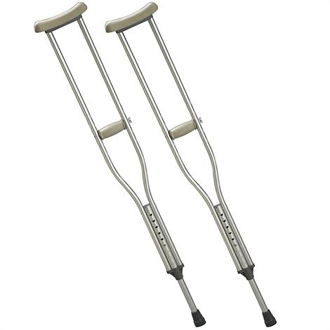 "Days Standard Aluminium Crutches,Adult,Adjusts 45"" to 53"",Pair,81591445"