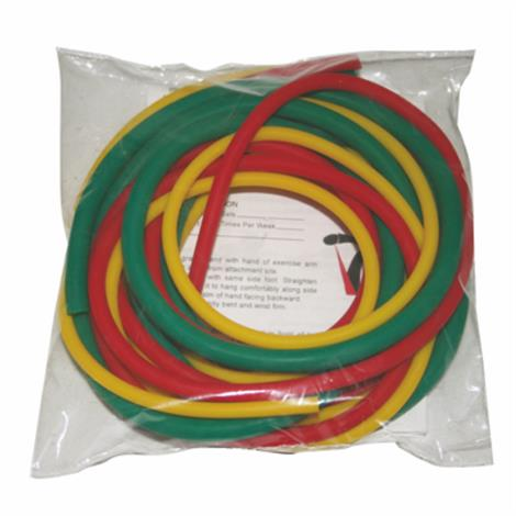 Image of CanDo Latex-Free Exercise Tubing PEP Pack,Challenging with Black, Silver, Gold Tubing,Each,1384180