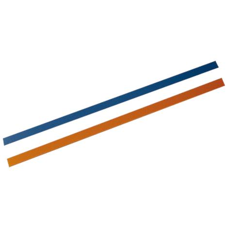 Orfit Pre-Cut Non-Perforated NS Colored Wide Strips,Blue And Gold,10/Pack,8124MBGO.1/NS
