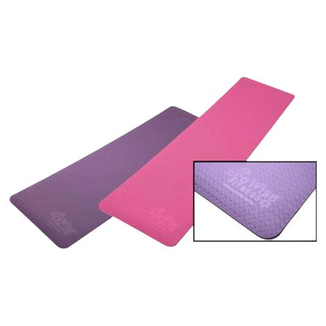 """EcoWise Elite Yoga Mat,1/4"""" thickness,72""""L x 24""""W,Black and Purple,Each,80401"""