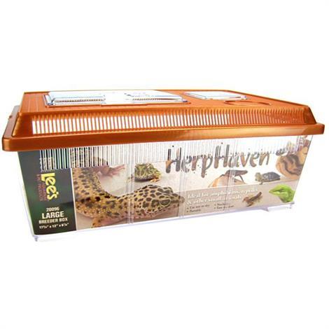 "Lees HerpHaven Breeder Box - Plastic,Large - 17.75""L x 12""W x 7""H,Each,20096"