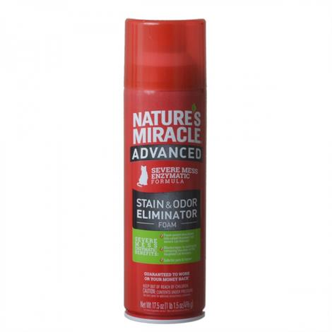 Natures Miracle Just for Cats Advanced Enzymatic Stain & Odor Eliminator Foam,17.5 oz,Each,P-96947