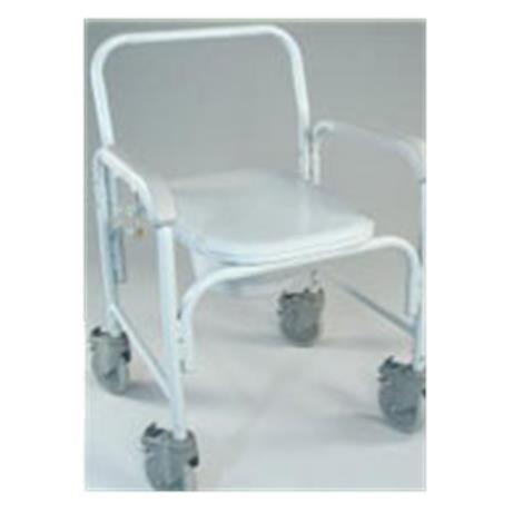 Tubular Fabricators Deluxe Commode With Solid Stem Casters,Dove Gray,Each,3217-1