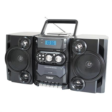 Portable CD/Cassette Bookshelf Stereo with USB Input,CD/Cassette Bookshelf Stereo,Each,NPB-428