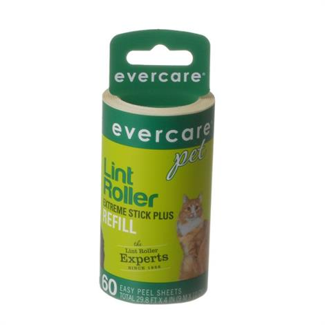 """Evercare Hair Adhesive Roller Refill Roll,60 Sheets - (29.8 Long x 4"""" Wide),Each,617080"""
