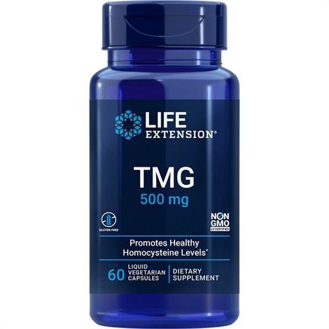 Life Extension TMG Capsules,500Mg, 60 Liquid Vegetarian Capsules,Each,#01859