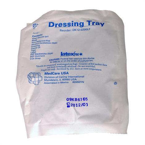 Medline Latex Free Dressing Change Tray with Chloraprep - DK12-0200LF,Dressing Change Tray,30/Pack,DK12-0200LF