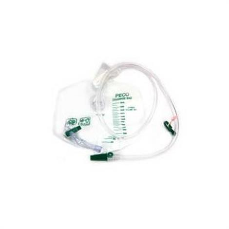PECO Medical Deluxe Urinary Drainage Bag With Single Hook Hanger,2000ml Capacity,Each,PD0504