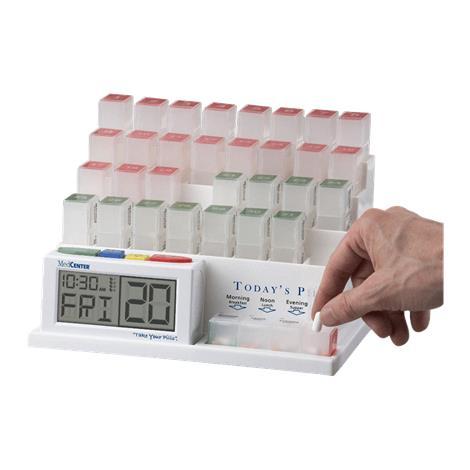 """MedCenter Talking Monthly Pill Organizer,7.25""""H x 7.5""""D x 10""""W,Each,7026-5"""