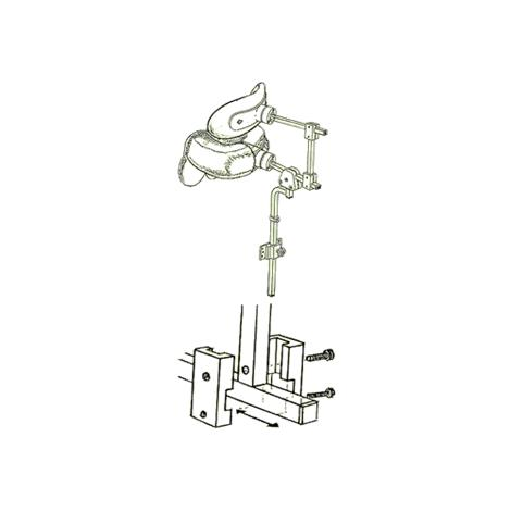 """Danmar 6818-A Two Step Head Support with Hensinger and Otto Bock Mount,Large,With 3"""" Bar,Each,6818-A"""