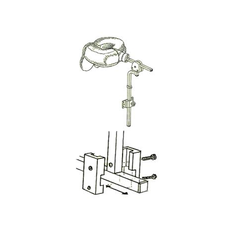 Danmar 6818-B Two Step Head Support With Hensinger and Otto Bock Mount,Large,Each,6818-B