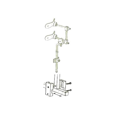 """Danmar 6818-C Two Step Head Support with Hensinger and Otto Bock Mount,With 3"""" Bar,Each,6818-C"""