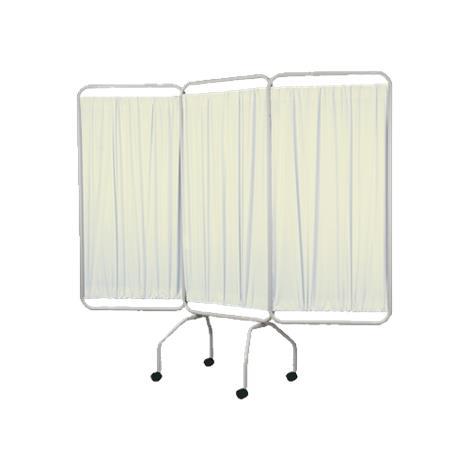 Winco Privess Basic 3 Panel Steel Frame Folding Privacy Screen,Standard White Vinyl,Each,3130