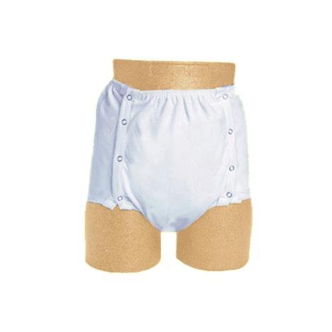 Medline Protection Plus Snap-Closure Adult Incontinence Underpants,Large,12/Pack,MSC327300L