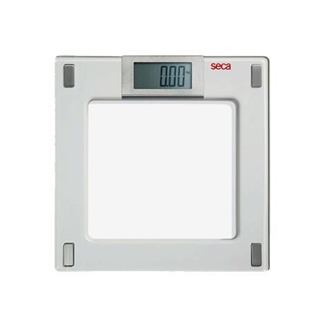 "Seca Aura Digital Flat Scale with Glass Platform,12.2"" x 1.5"" x 12.2"" (310mm x 37mm x 310mm),Each,SECA807"