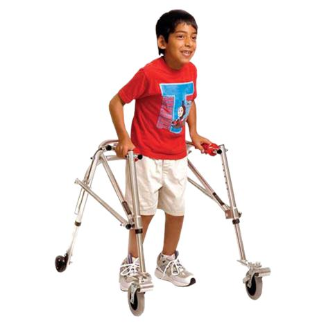Kaye Posture Control Four Wheel Walker With Front Swivel And Installed Silent Rear Wheel For Youth