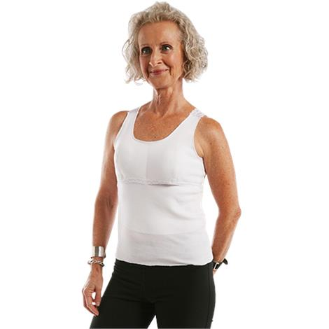"""Softee Roo White Prosthetic Camisole,Large,16"""" to 18"""",Each,563"""