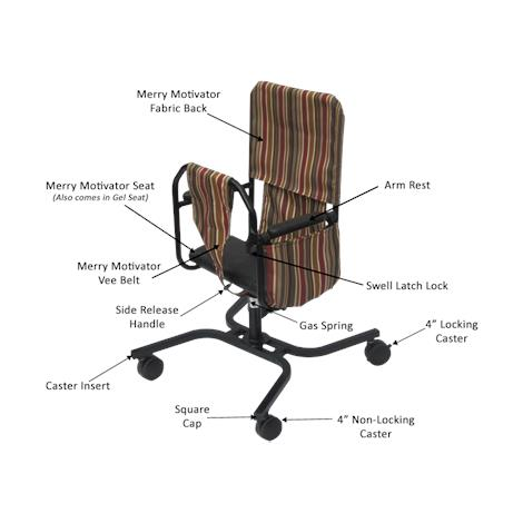 Merry Motivator Seated Rolling Walker Replacement Accessories,Vee Belt,Each,711155