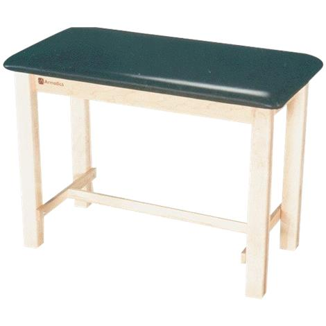"""Armedica Maple Hardwood Taping Table,With End Shelf,16"""" x 16"""",Black,Each,AM-624"""