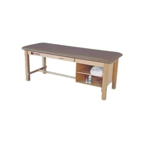 Armedica Maple Hardwood Treatment Table with Drawer and Adjustable Shelf,Black,Each,AM-608