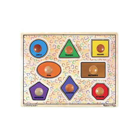 Melissa & Doug Large Shapes Jumbo Knob Puzzle,1.5 x 12 x 15.5 (Assembled),Each,3390