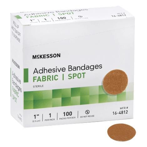 McKesson Sheer Spot Round Adhesive Bandage,Fabric,100/Pack,16-4812