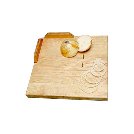"""One-Handed Deluxe Maple Cutting Board,11"""" (28cm),Square,Each,NC28503"""