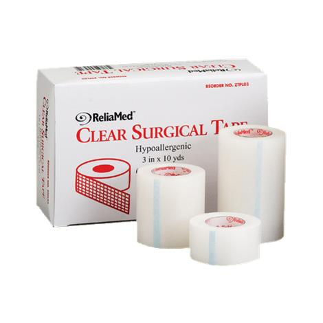 ReliaMed Hypoallergenic Clear Surgical Tape,1 x 10yd,288/Case,ZTPL01
