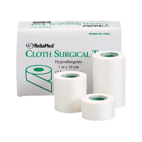 ReliaMed Hypoallergenic Cloth Surgical Tape,Roll,1 x 10yd,288/Case,ZTCL01