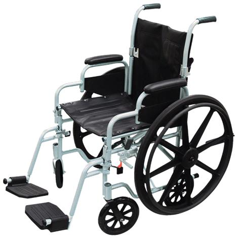 "Drive Poly-Fly Lightweight Transport Chair Wheelchair,18"",Each,TR18"